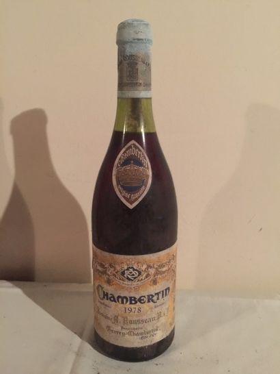 1 BLLE CHAMBERTIN (Armand Rousseau) 1978...