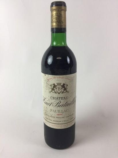3 BLLE 1971 Château HAUT BATAILLEY (Pauillac)...