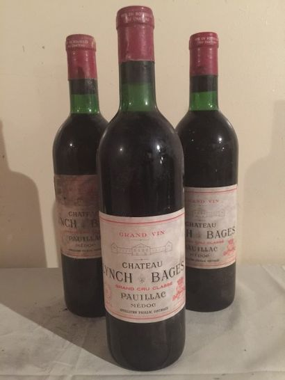 3 BLLE Château LYNCH BAGES (Pauillac) 1970...