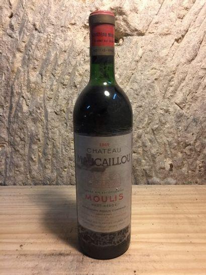 3 BLLE Château MAUCAILLOU (Moulis) 1969 ...