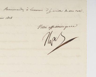 NAPOLÉ ON Ier. Lettre signée « Napo »au...