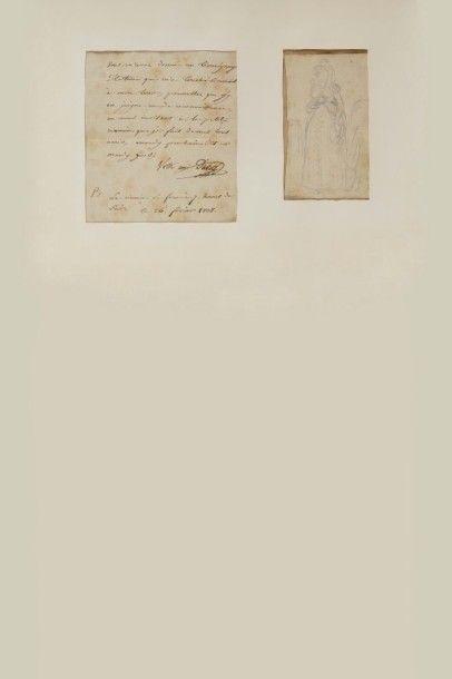 DAVID ( Jacques-Louis). Dessin original signé...