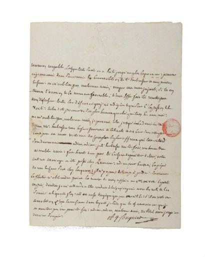 COUTHON (Georges). Lettre autographe signée...