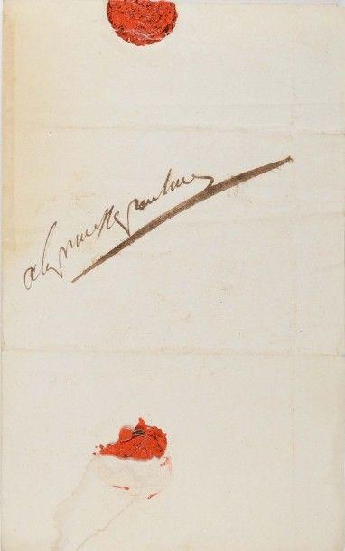 NAPOLÉON Ier. Lettre autographe « à la princesse...