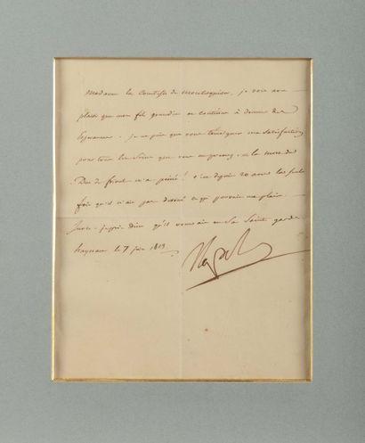 NAPOLÉ ON Ier. Lettre signée « Napole » à...