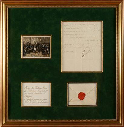 NAPOLÉ ON Ier. Lettre signée « Np » au colonel...