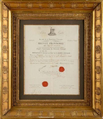 BONAPARTE (Napoléon). Pièce signée « Bonaparte...
