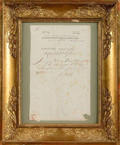 BONAPARTE (Napoléon). Lettre signée « Bonaparte...