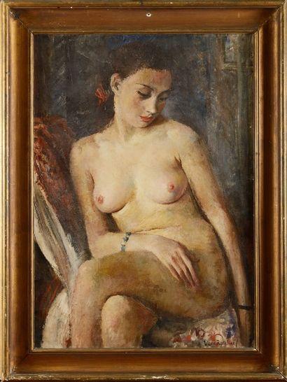 Vera ROCKLINE (1896-1934) Modèle nu au bracelet...