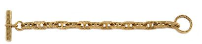 HERMES Bracelet gourmette modèle vendôme...