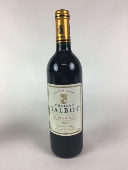 5 BLLE Château TALBOT (St Julien) 2003 B...