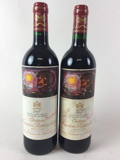 2 BLLE Château MOUTON ROTHSCHILD (Pauillac)...