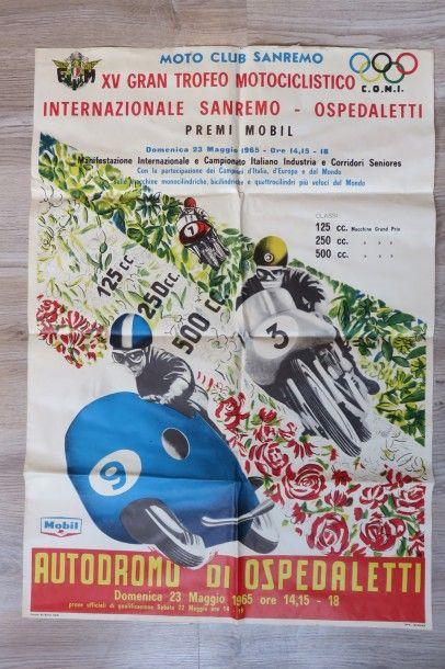 Affiche XV Gran Trofeo Motociclistico Internazionale...