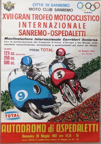 Affiche XVII Gran Trofeo Motociclistico Internazionale...