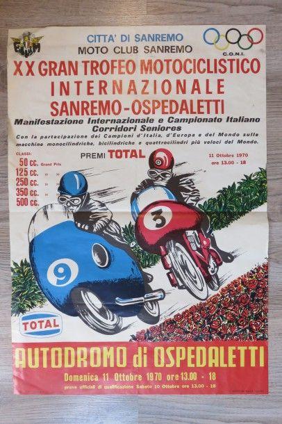 Affiche XX Gran Trofeo Motociclistico Internazionale...