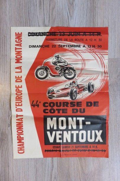 Affiches 44ème course de Côte du Mont-Ventoux...