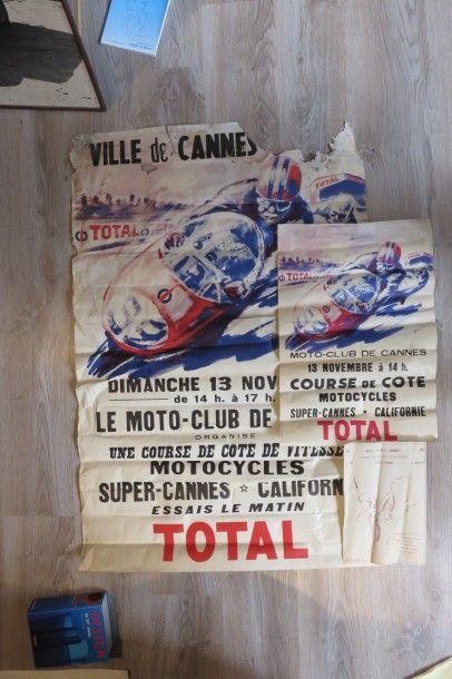 Affiches Moto Club de Cannes - Course de...