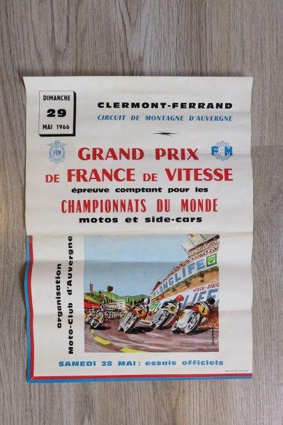 Affiches Grand Prix de France de Vitesse...