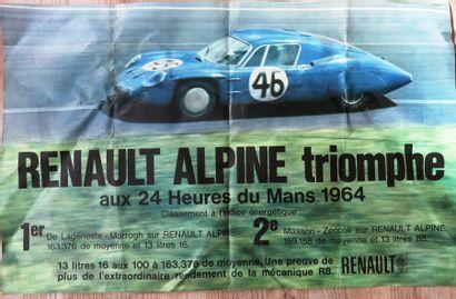 Affiche Renault Alpine Triomphe aux 24 heures...