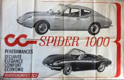 Affiche CG SPIDER 100. 118,5 x 80 cm