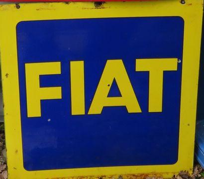 Plaque émaillée FIAT