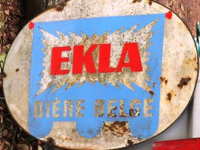 Plaque publicitaire EKLA