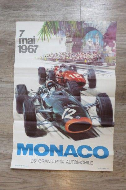 Affiche Grand Prix MONACO 7 Mai 1967. 41...