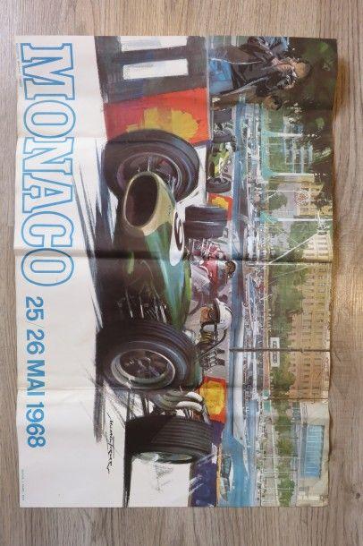 Affiche Grand Prix MONACO 25/26 Mai 1968....