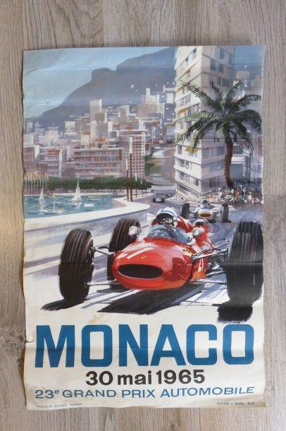 Affiche Grand Prix MONACO 30 Mai 1965. 60...