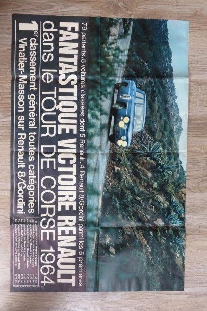 Affiche Fantastique victoire Renault dans...