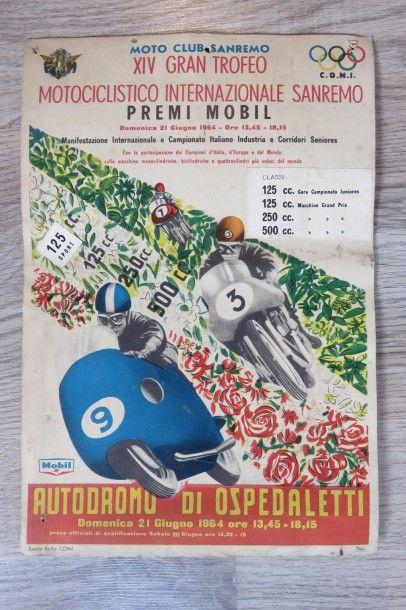 Affiche XIV Gran Trofeo Motociclistico Internazionale...