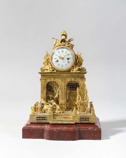 5. Pendule dite «au Déserteur» en bronze...