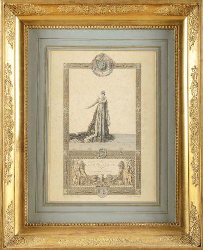 ISABEY, PER CIER et FONTA INE, d'après « L'Empereur Napoléon Ier en grand habit...