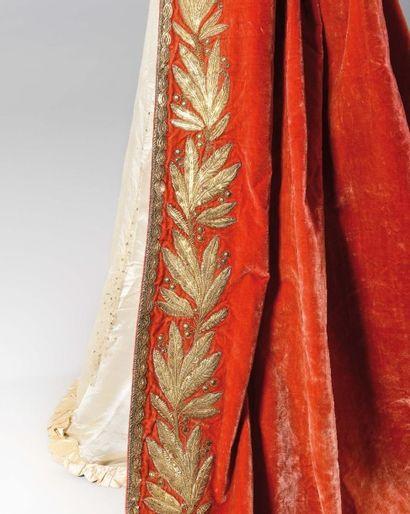 Importante robe de cérémonie de la Comtesse de BOIGNE (1781-1866) comprenant : -...