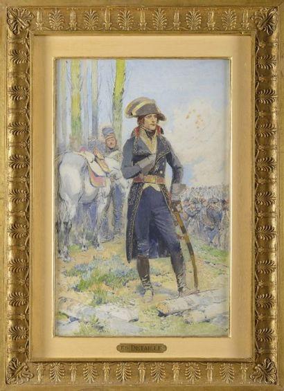 Edouard DETA ILLE (1848-1912) Ecole Française « Le général Bonaparte durant la campagne...