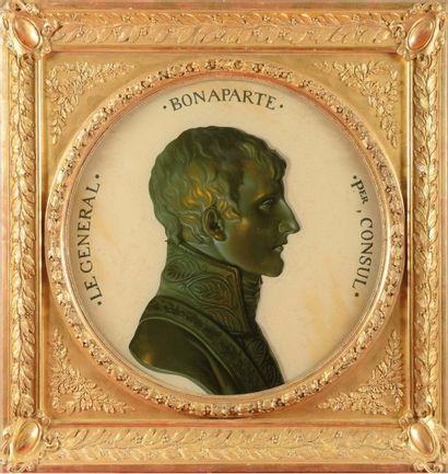 Piat-Joseph Sauvage 1744-1818 «Portrait en buste de Napoléon Bonaparte, en Premier...