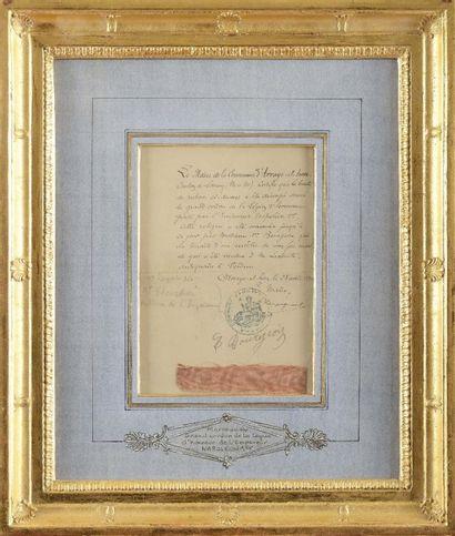 Morceau du grand cordon de la Légion d'honneur...