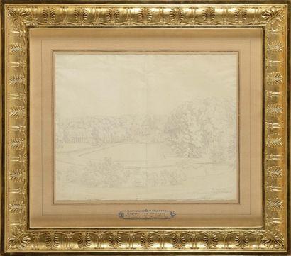 Constant BOURGEOIS (1767-1841) « Vue du château...