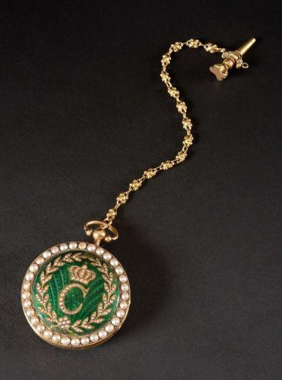 Rare montre attribuée à NITOT ayant appartenu à Caroline Murat, Reine de Naples,...