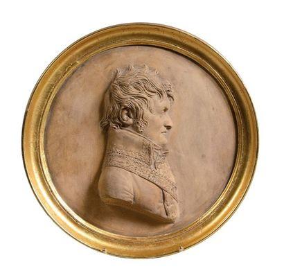 Joseph Chinard (1756-1813) Médaillon en terre...