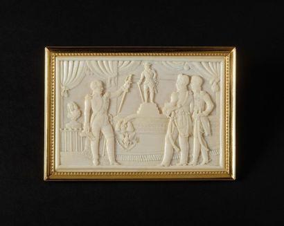 Aeliers DIEPPOIS vers 1806-1807 Rare plaque...