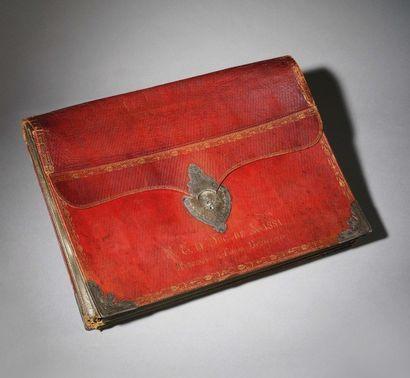 Important portefeuille A soufflets du Duc de Massa, président du Corps législatif....