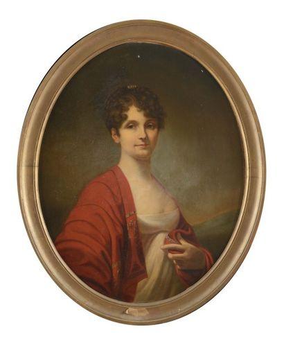 Ecole Française du XIXème siècle. «Portrait...