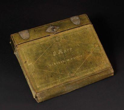 Portefeuille écritoire de voyage, à soufflets de Jean RA PP, général de division,...