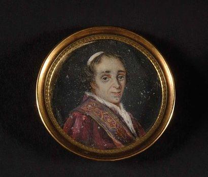 Ecole française vers 1815. «Portrait de sa...