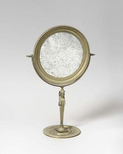 Psyché de table à miroir inclinable de forme...