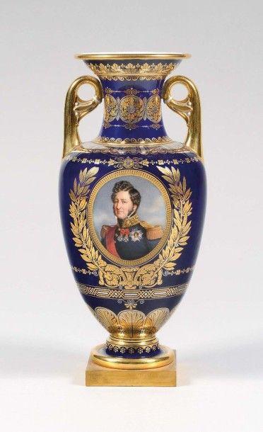SÈVRES Vase du Roi des Français, Vase Lancel,...
