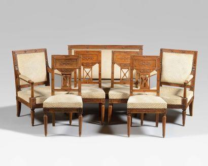 Mobilier de salon comprenant un canapé, une...