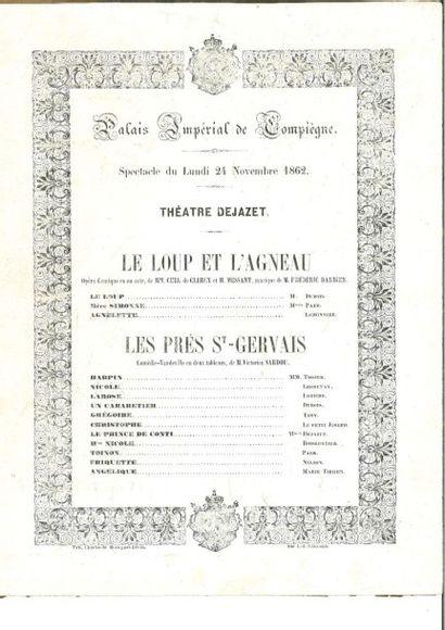 «Palais Impérial de Compiègne». Programme...