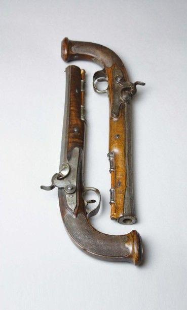 Paire de pistolets de Louis-Marie Auvray,...